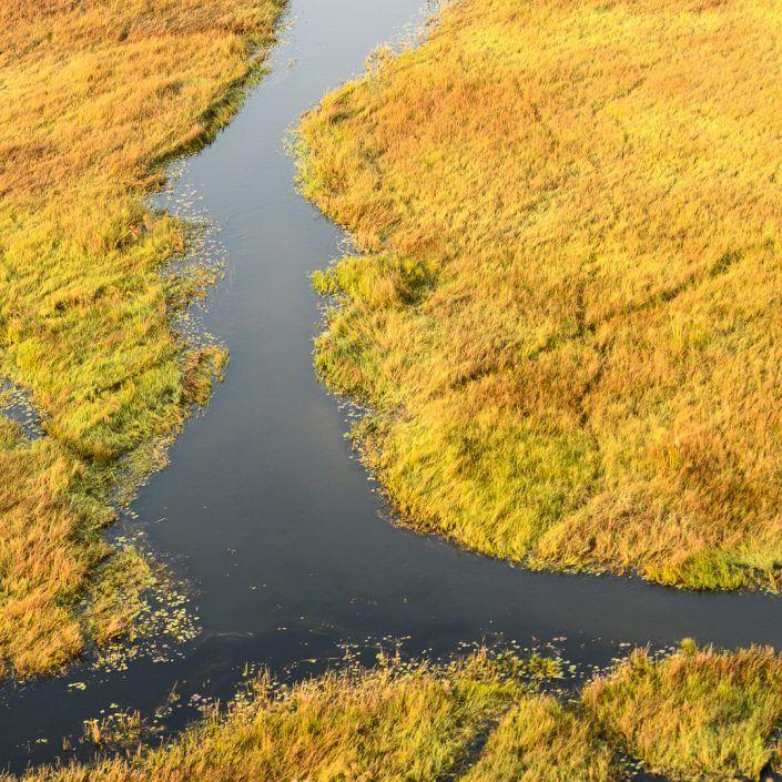 Delta de l'Okavango dede l'aire