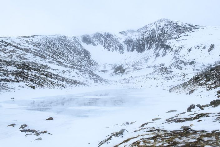 Collroig lake and Collroig peak