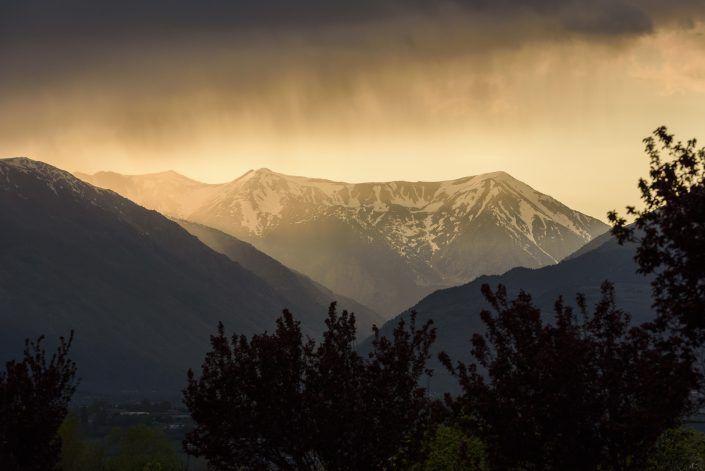 Posta de sol i tempesta a Porté